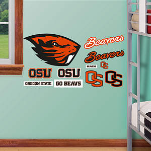 Oregon State Beavers - Team Logo Assortment Fathead Wall Decal